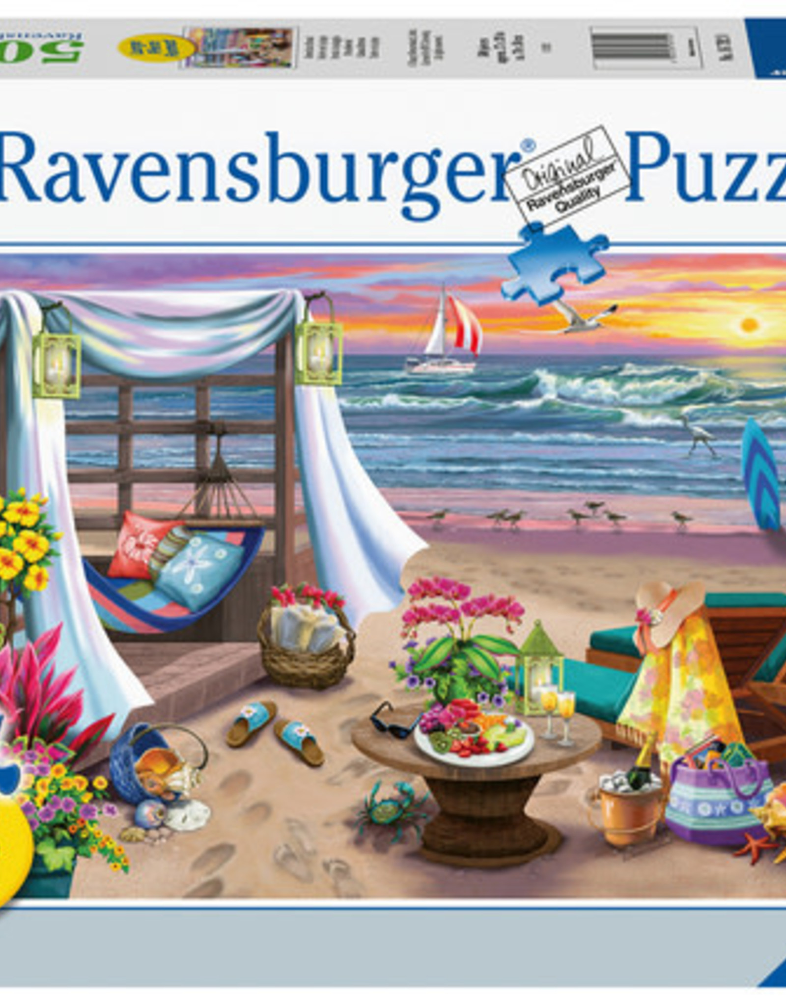 Ravensburger 500pc LF puzzle Cabana Retreat