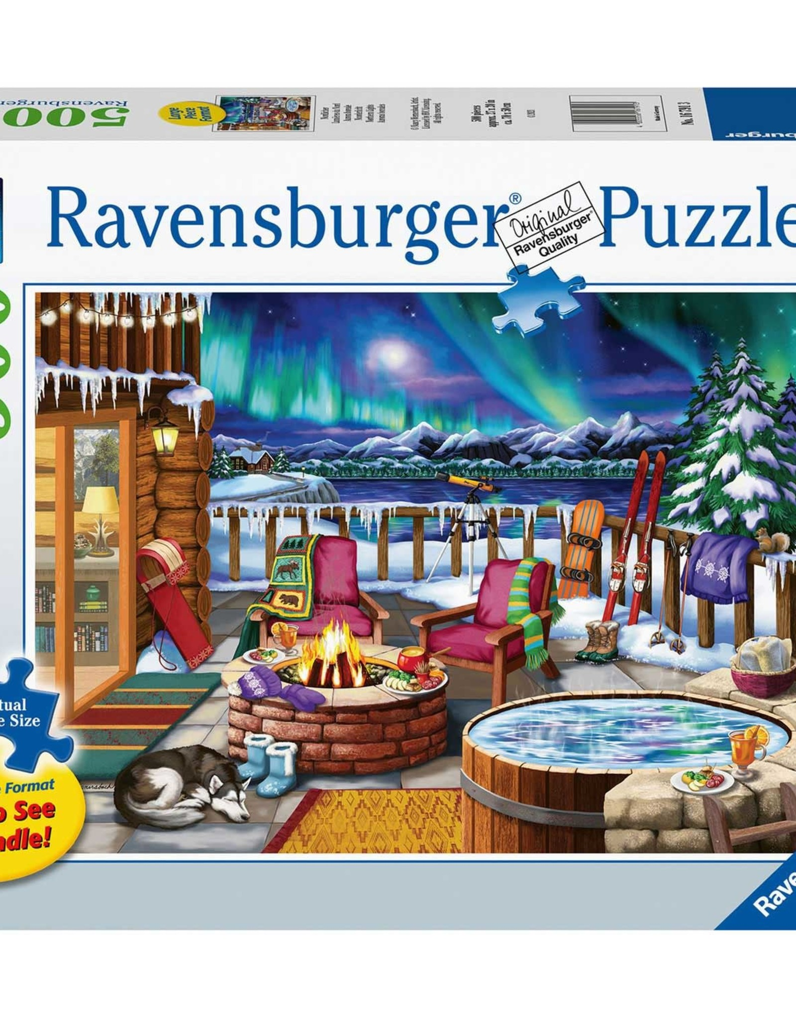 Ravensburger 500pc LF puzzle Northern Lights