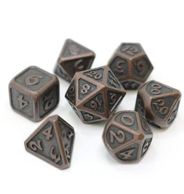 Metal Dice 7 Set Mythica Dark Copper