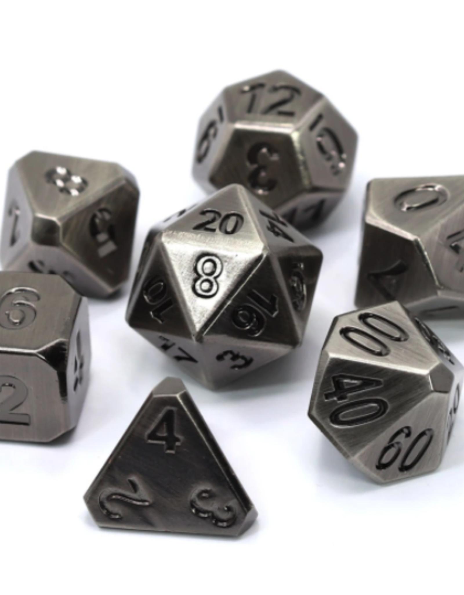 Die Hard Dice Metal Dice 7 set Forge Battleworn Silver