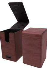 Ultra Pro Alcove Tower Deck Box: Suede Ruby
