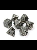 Die Hard Dice Metal Dice 7 set Mythica Battleworn Silver