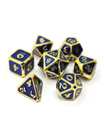 Die Hard Dice Metal Dice 7 set Mythica Gold Sapphire
