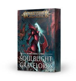 Games Workshop Warcsroll Cards: Soulblight Gravelords