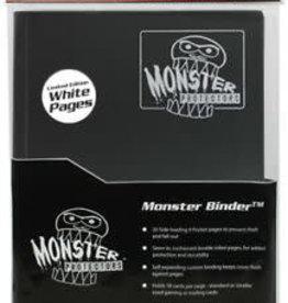 Monster Monster Binder: 9 pocket: Matte Black w/ White Pages