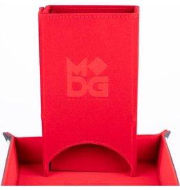 Metallic Dice Game Dice Tower: Velvet Fold Red