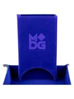 Metallic Dice Game Dice Tower: Velvet Fold Blue