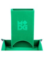 Metallic Dice Game Dice Tower: Velvet Fold Green
