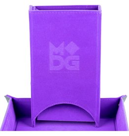 Metallic Dice Game Dice Tower: Velvet Fold Purple