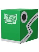 Arcane Tinmen Dragon Shield Deck Box: Double Shell Green w/ Black