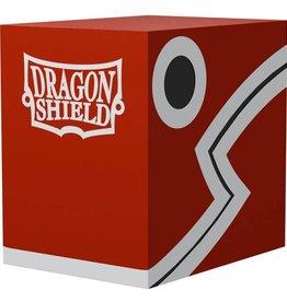Arcane Tinmen Dragon Shield Deck Box: Double Shell Red w/ Black