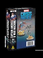 Atomic Mass Games Marvel Crisis Protocol: Captain America & War Machine Pack