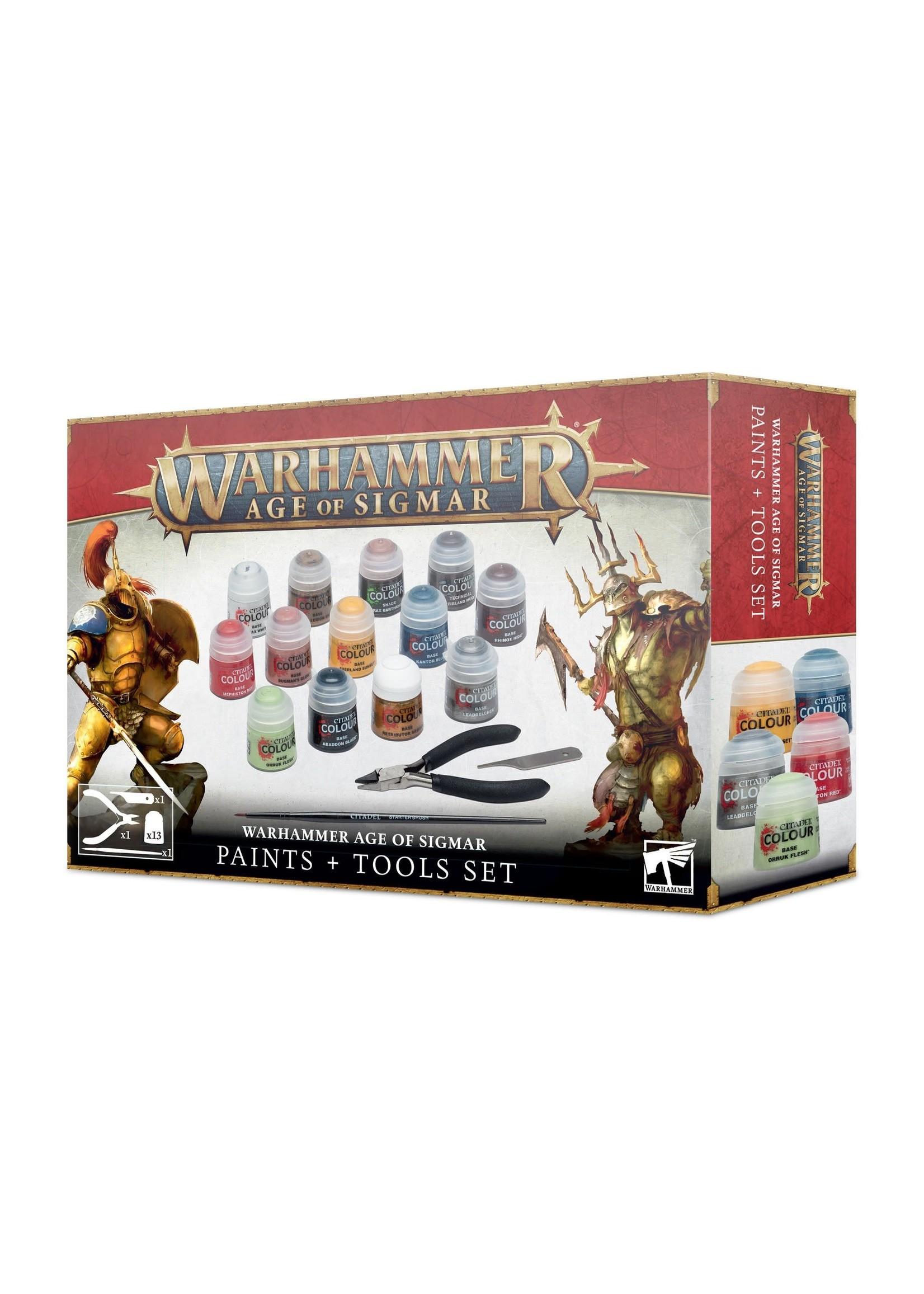 Games Workshop Age of Sigmar Paint & Tools Set