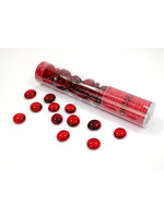 Chessex Glass StonesTube Red
