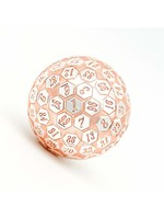 Foam Brain 45mm d100 Pink & Silver with Pink Numbers