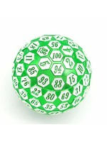Foam Brain 45mm d100 Green & Silver with Green Numbers