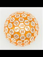 Foam Brain 45mm d100 Orange & Silver with Orange Numbers