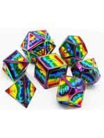 Foam Brain 16mm polyhedral 7 set metal - Pride Flag Rainbow