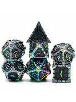 Foam Brain 16mm polyhedral 7 set metal - Dagger of Venom - Black Rainbow
