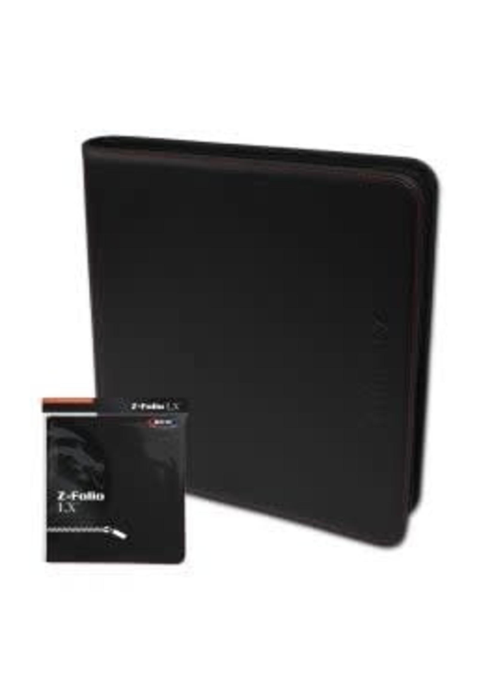 BCW 12 Pocket Binder Z-Folio LX Black