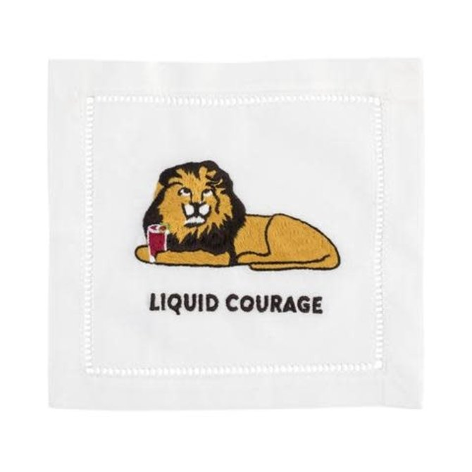 August Morgan Napkins Liquid Courage (Set of 4)