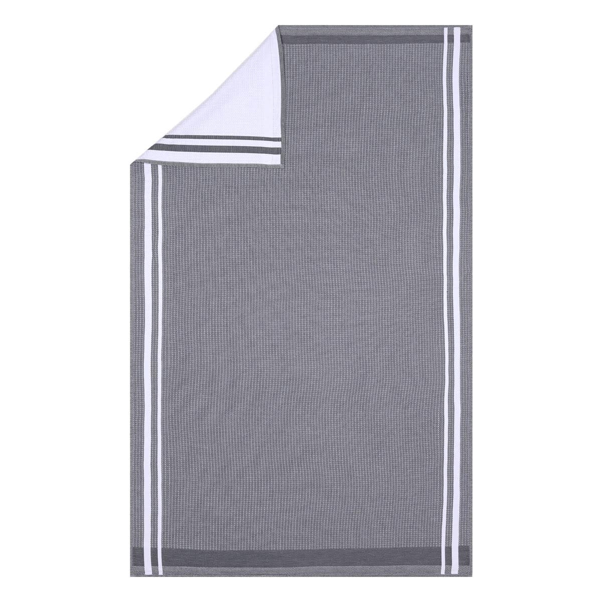 "LJF Guest Towel Duetto Caviar 12""x20"""