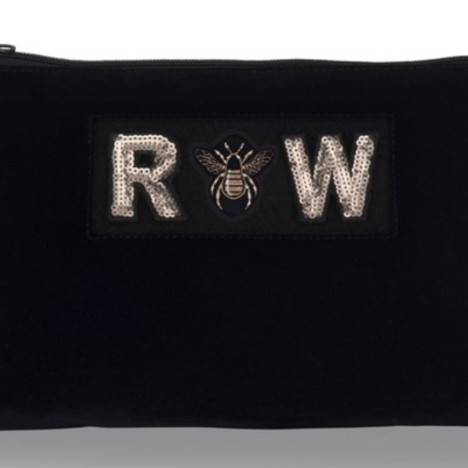 Apatchy Diva Collection Large Pouch Midnight Navy Velvet