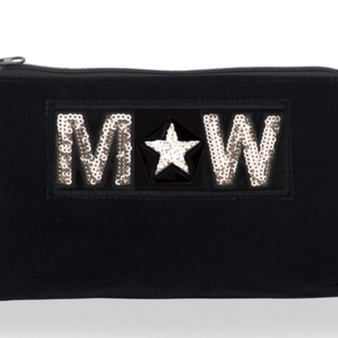 Apatchy Diva Collection Medium Pouch Midnight Navy Velvet