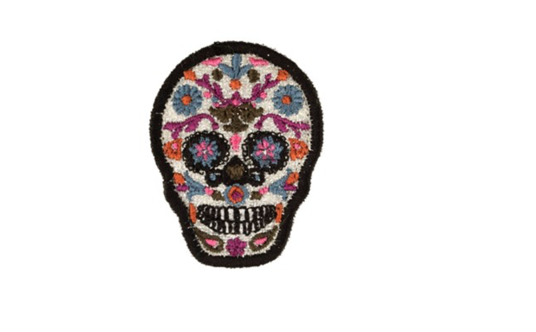 Apatchy Flower Skull Patch