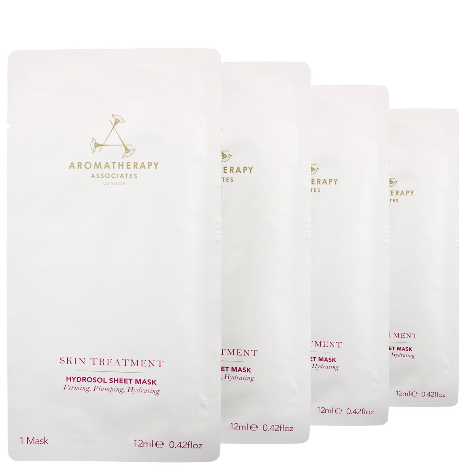 Aromatherapy Associates Sheet Mask Sachets (Hydrosol) Pack of 4