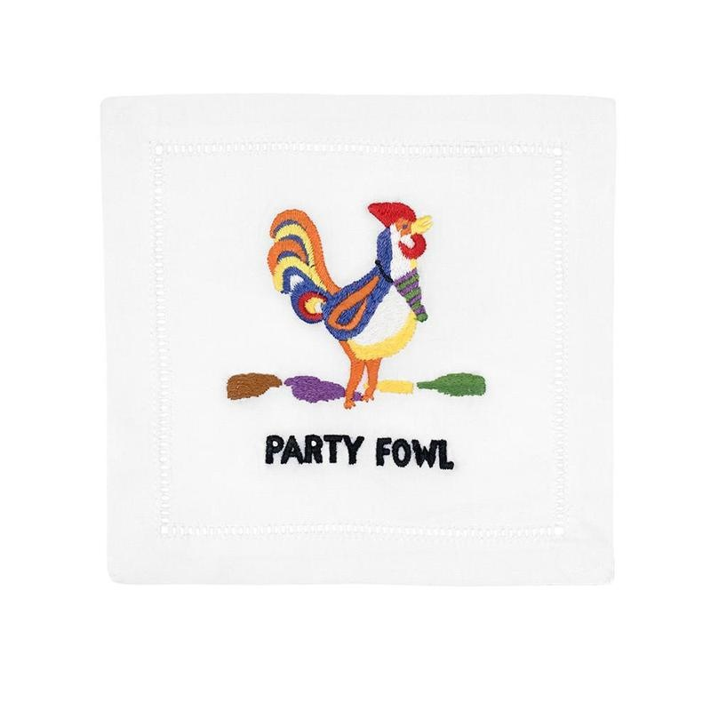 August Morgan Napkins Party Fowl (Set of 4)