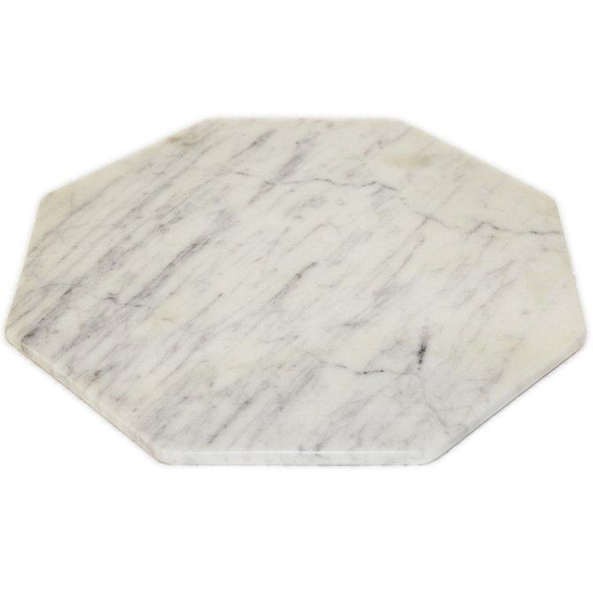 BIDKHOME Octagonal Trivet Lady Purple White Marble