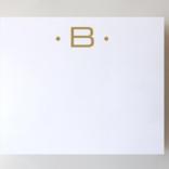 Black Ink Gold Foil Large Initial Pad - B