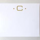 Black Ink Gold Foil Large Initial Pad - C