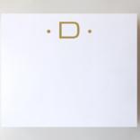 Black Ink Gold Foil Large Initial Pad - D