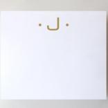 Black Ink Gold Foil Large Initial Pad - J