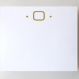 Black Ink Gold Foil Large Initial Pad - O