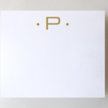 Black Ink Gold Foil Large Initial Pad - P