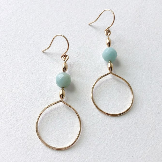 Bopbe Jewelry Amazonite Earring