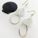 Bopbe Jewelry Crystal Quartz Rough Earring -