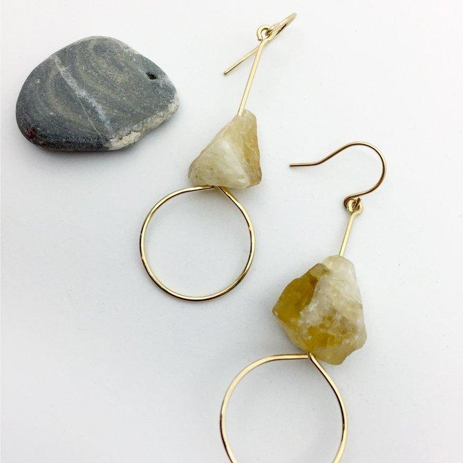Bopbe Jewelry Citrine Quartz Earring