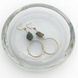 Bopbe Jewelry Labradorite Rough Earring