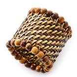 Calaisio beaded napkin ring - natural