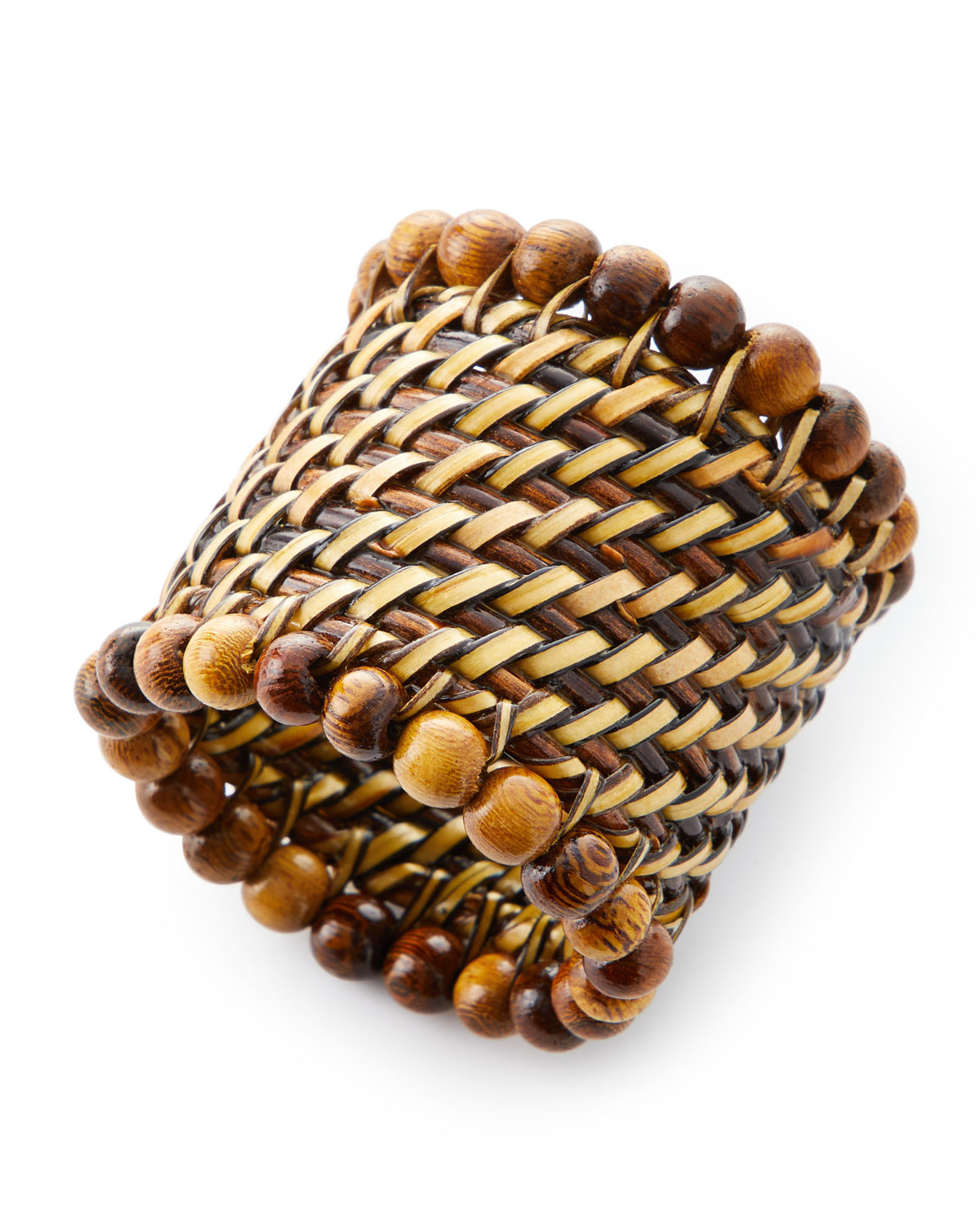 Calaisio beaded napkin ring - natural