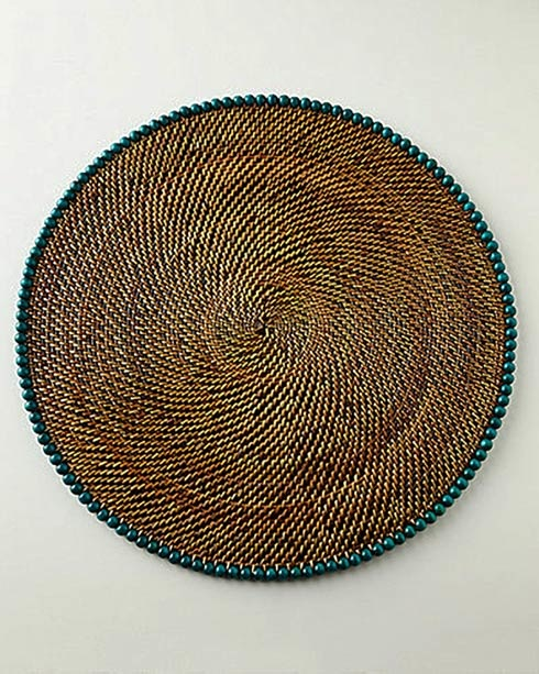 Calaisio beaded placemat - seagreen