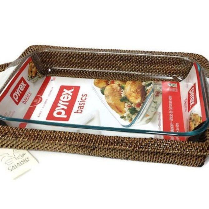 Calaisio Rectangle Tray w/ pyrex - 4qt