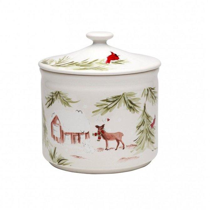 Casafina Living Deer Friends Cookie Jar