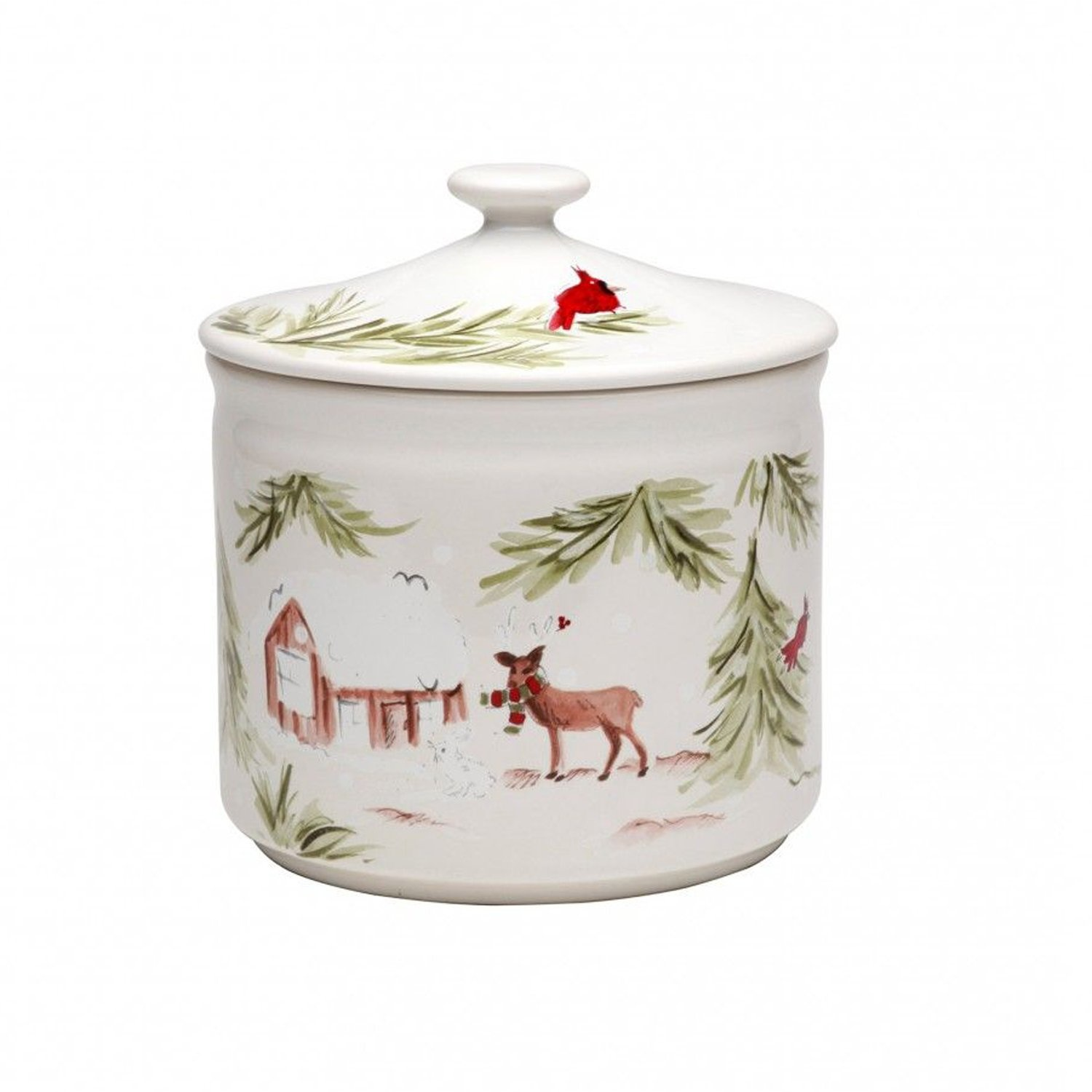 Casafina Living Deer Friends Cookie Jar