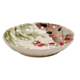 Casafina Living Deer Friends Lg Shallow Bowl