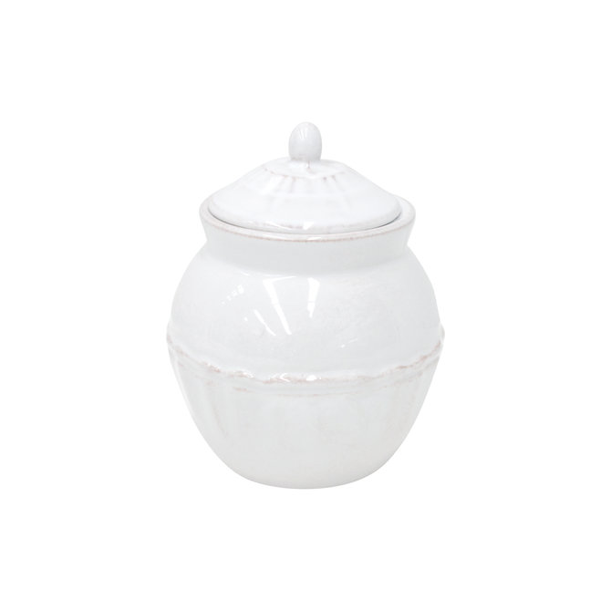 Casafina Living Sugar Bowl Alentejo-White